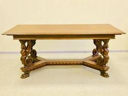Antique table with nymphs