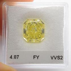 4.87Cts Fancy Yellow Diamond Natural Color