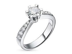 Ring with diamonds 1.22 ct
