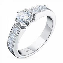 Ring with diamonds 1.34 ct