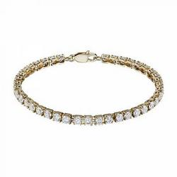 Gold bracelet with 6.296 ct diamonds