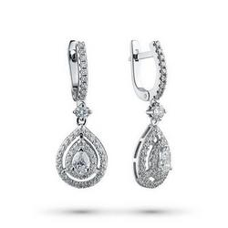 Gold earrings with diamonds 1.834 ct