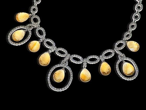 Necklace 18kt Wg, Diam